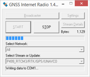 GNSS Internet Radio running...