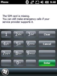 SIM Card Milssing